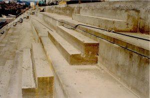 Préparation coupe du monde 98 - Réfection des marches des gradins