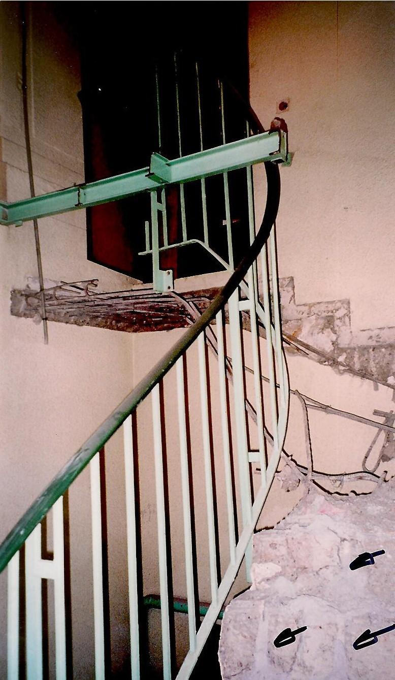 Démolition d'escaliers
